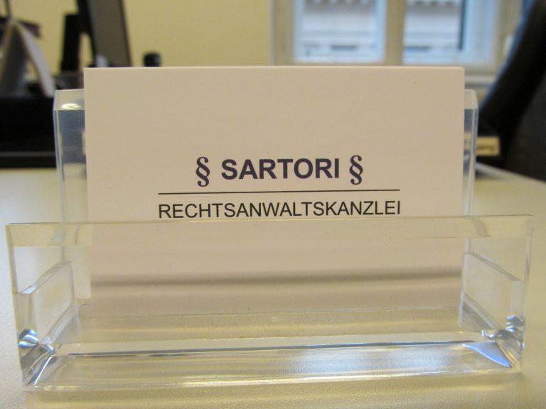 Kontakt SARTORi Rechtsanwälte OG